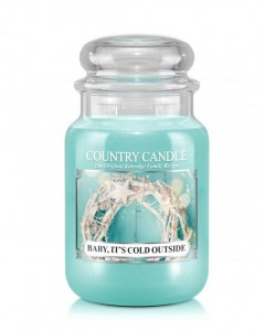 Duża świeca zapachowa Baby, It's Cold Outside Country Candle