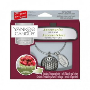 "Zapach do auta Charming Scents ""Geometric"" zestaw z Black Cherry Yankee Candle"