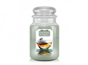 Duża świeca zapachowa Black Tea & Honey Country Candle