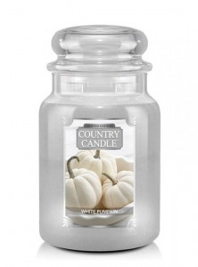 Duża świeca zapachow  White Pumpkin Country Candle