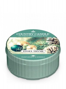 Świeca daylight Tinsel Thyme Country Candle