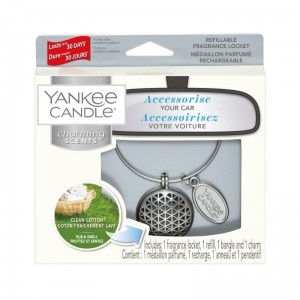 "Zapach do auta Charming Scents ""Geometric"" zestaw z Clean Cotton Yankee Candle"