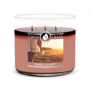 Świeca Tumbler średni WARM SUNSET Goose Creek Candle