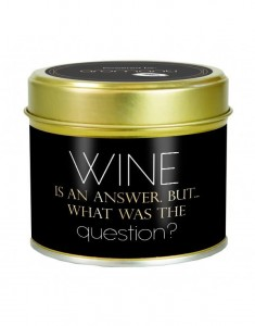 The Country Candle świeca Wine Is An Answer But What Was The Question?