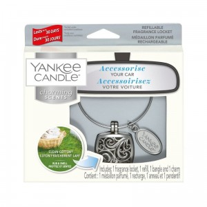 "Zapach do auta Charming Scents ""Square"" zestaw z Clean Cotton Yankee Candle"